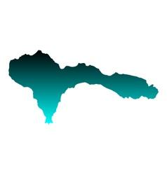 Map of Sao Nicolau vector image vector image