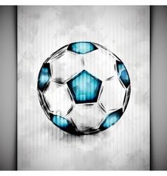 Soccer ball watercolor vector image vector image