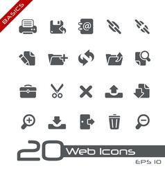 Web Interface Basics Series vector image vector image