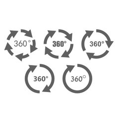 360 degree overview icons vector image vector image