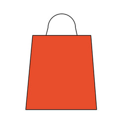 color image cartoon bag for shopping vector image