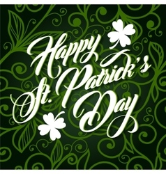 Patrick day lettering greeting card vector image vector image