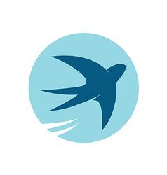 Swallow bird silhouette logo vector image