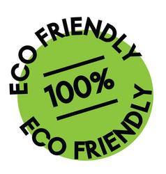 100 percent eco friendly label vector image