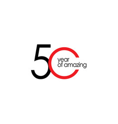 50 year amazing template design vector