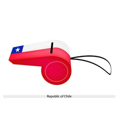 A Beautiful Whistle of Republic of Chile vector image