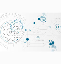 Abstract background with gear wheels technology vector