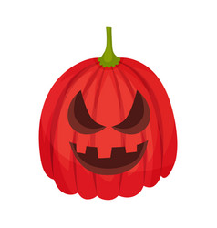 Aggression on a jack lantern vector