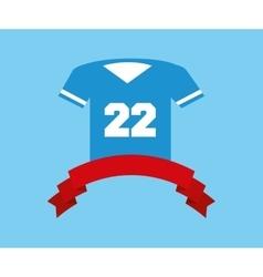 American football tshirt vector