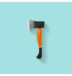Axe in a flat style Camping hiking surviving vector image