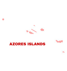 azores islands map - mosaic of heart hearts vector image
