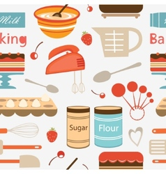 Baking pattern vector image