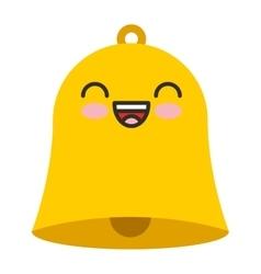 Bell school character icon vector