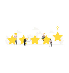 big stars with small working people around it vector image