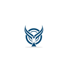 bird fly wing animal logo vector image