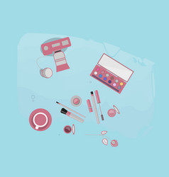 Bloger beauty girls video vector