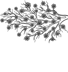 blooming tree branch a symbol spring vector image