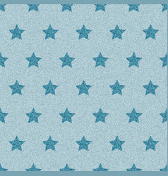 blue denim starry jeans seamless pattern vector image