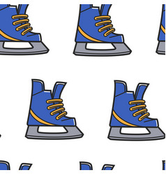 canadian symbol figure skating or hockey shoe vector image