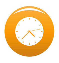 Clock modern icon orange vector