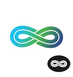Color infinity logo vector