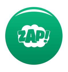 comic boom zap icon green vector image