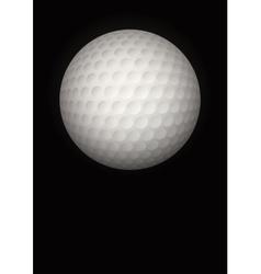 Dark Background of golf ball vector image