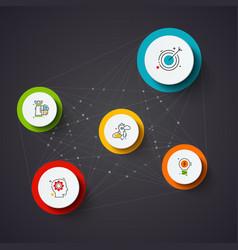 dark infographic design template business vector image