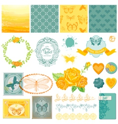Design Elements - Vintage Ombre Butterflies vector image