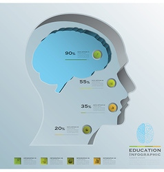 Education Business Infographic Head Brain vector image
