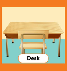 Educational english word card desk vector