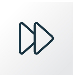 Fast forward outline symbol premium quality vector