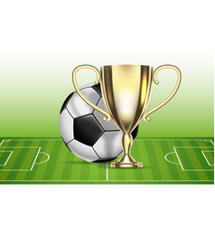 Football 2018 championship soccer ball arena vector