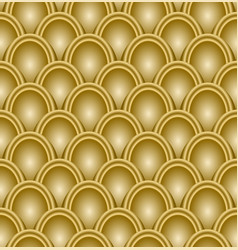 Gold scale pattern embossed seamless luxury vector