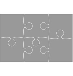 grey piece puzzle jigsaw vector image