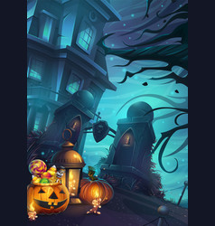 Halloween background - the vector