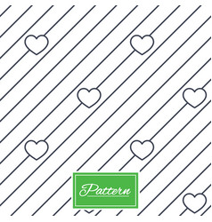 hearts stripped geometric seamless pattern vector image