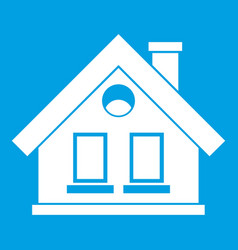 House icon white vector