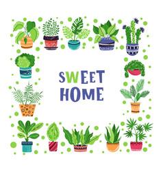 houseplants set vector image