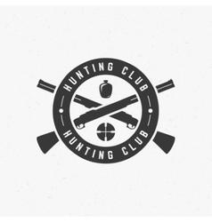 Hunting Club Vintage Logo Template Emblem Cross vector image
