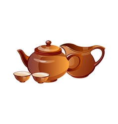Icon tea pot vector