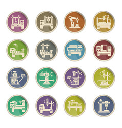 industrial equipment icon set vector image