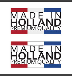 made in holland icon premium quality sticker vector image