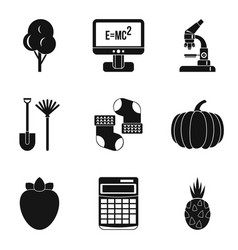Microcosm icons set simple style vector