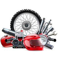 Motorcycle Spares Concept vector