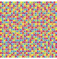 Multicolor mosaic of triangles vector