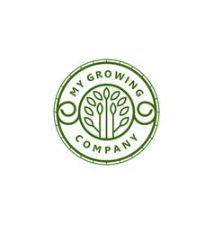 My growing company logo agricultural farming logo vector