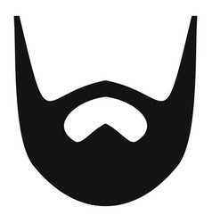 Neat beard icon simple style vector