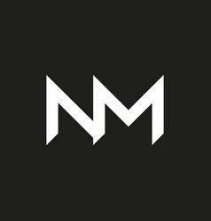 nm logo monogram vector image