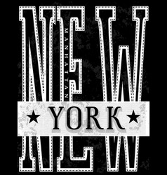nyc new york stock t-shirt design print design vector image
